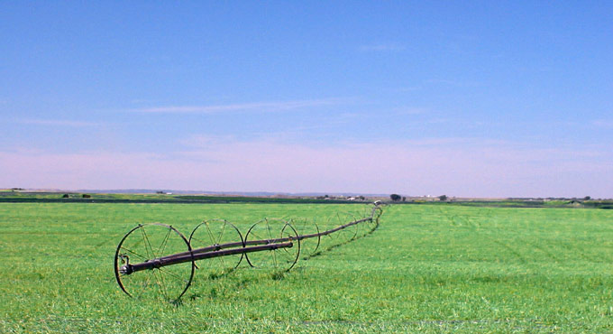 Wheelline-sprinkler-Crow-Indian-Reservation